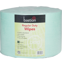 Regular Duty Wipes - Rolls -Green - 500m - Sheet Size 30x50cm