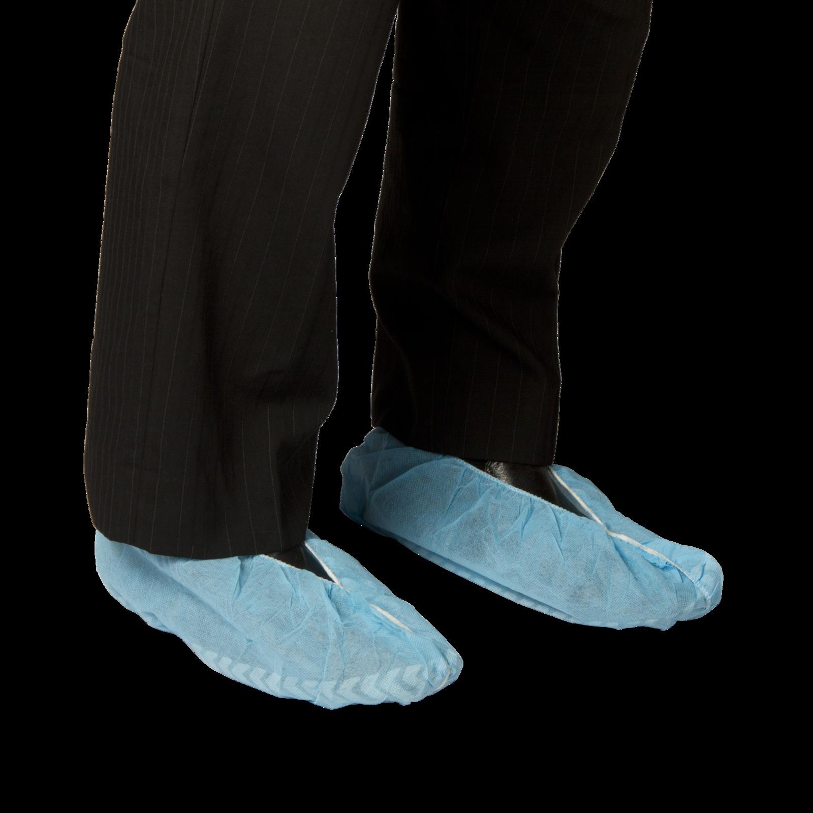 bastion pacific polypropylene shoe cover blue non